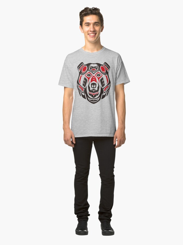 Alternate view of Haida style grizzly Classic T-Shirt