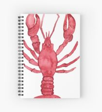 Lobster Watercolor Spiral Notebook