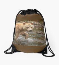Spirit walks in water Drawstring Bag
