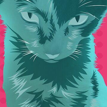 Cyan Cat by MrZafra