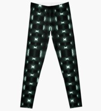 Futuristic Dark Hexagonal Grid Pattern Design Leggings
