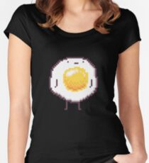 Standing Egg Pixel  Women's Fitted Scoop T-Shirt