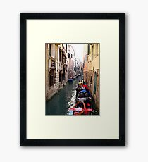 After the Rain ~ Gondoliers of Venice Framed Print