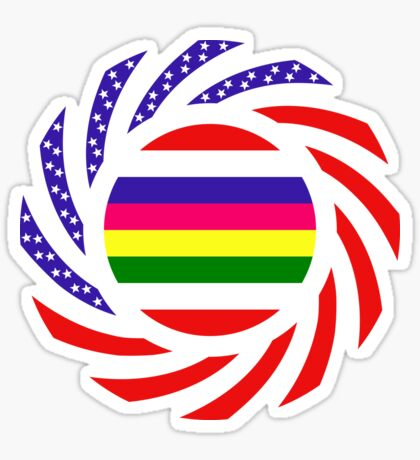 Korean American Multinational Patriot Flag Series 2.0 Sticker