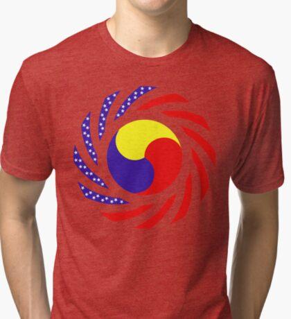 Korean American Multinational Patriot Flag Series 3.0 Tri-blend T-Shirt