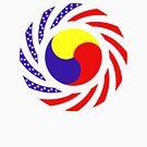 Korean American Multinational Patriot Flag Series 3.0 by Carbon-Fibre Media