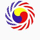 Korean American Multinational Patriot Flag Series 3.0 by Carbon-Fibre Media
