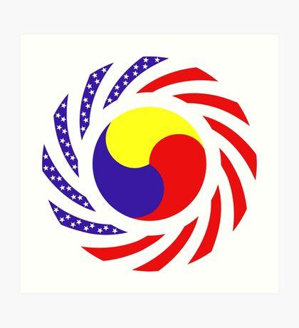 Korean American Multinational Patriot Flag Series 3.0 Art Print