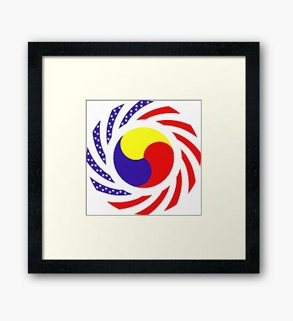 Korean American Multinational Patriot Flag Series 3.0 Framed Print