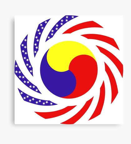Korean American Multinational Patriot Flag Series 3.0 Canvas Print