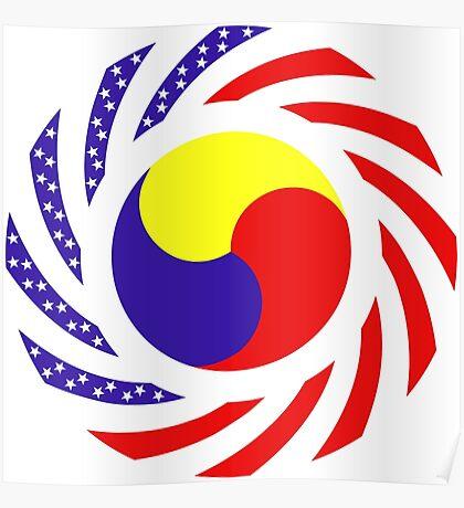 Korean American Multinational Patriot Flag Series 3.0 Poster