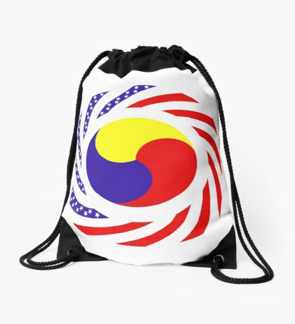 Korean American Multinational Patriot Flag Series 3.0 Drawstring Bag