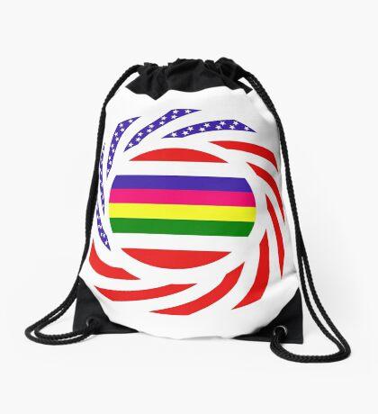 Korean American Multinational Patriot Flag Series 2.0 Drawstring Bag