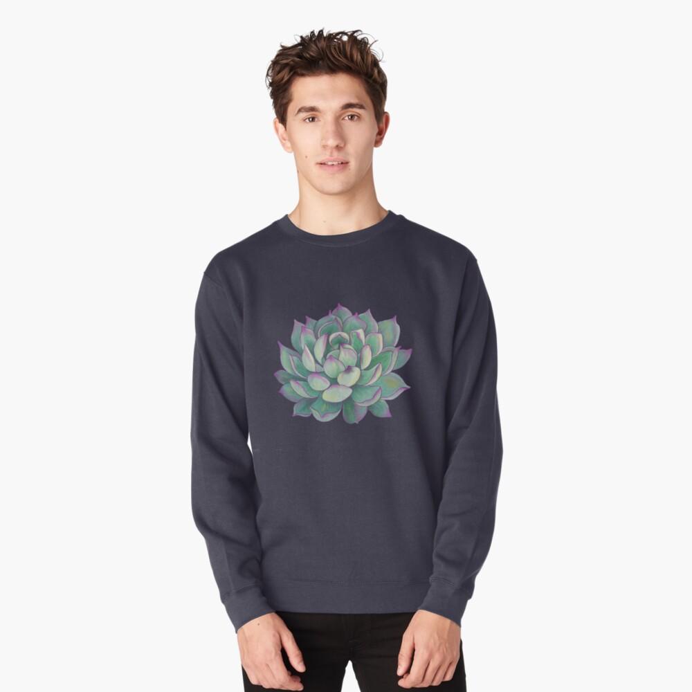 Sukkulente Pflanze Sweatshirt Vorne