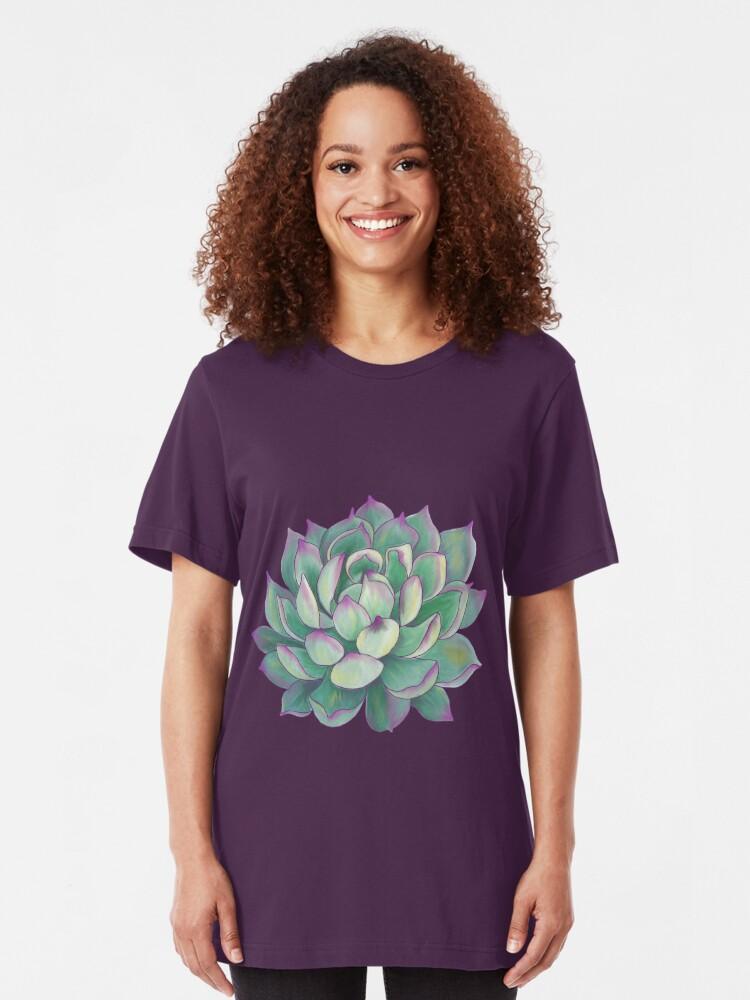 Alternate view of Succulent plant Slim Fit T-Shirt
