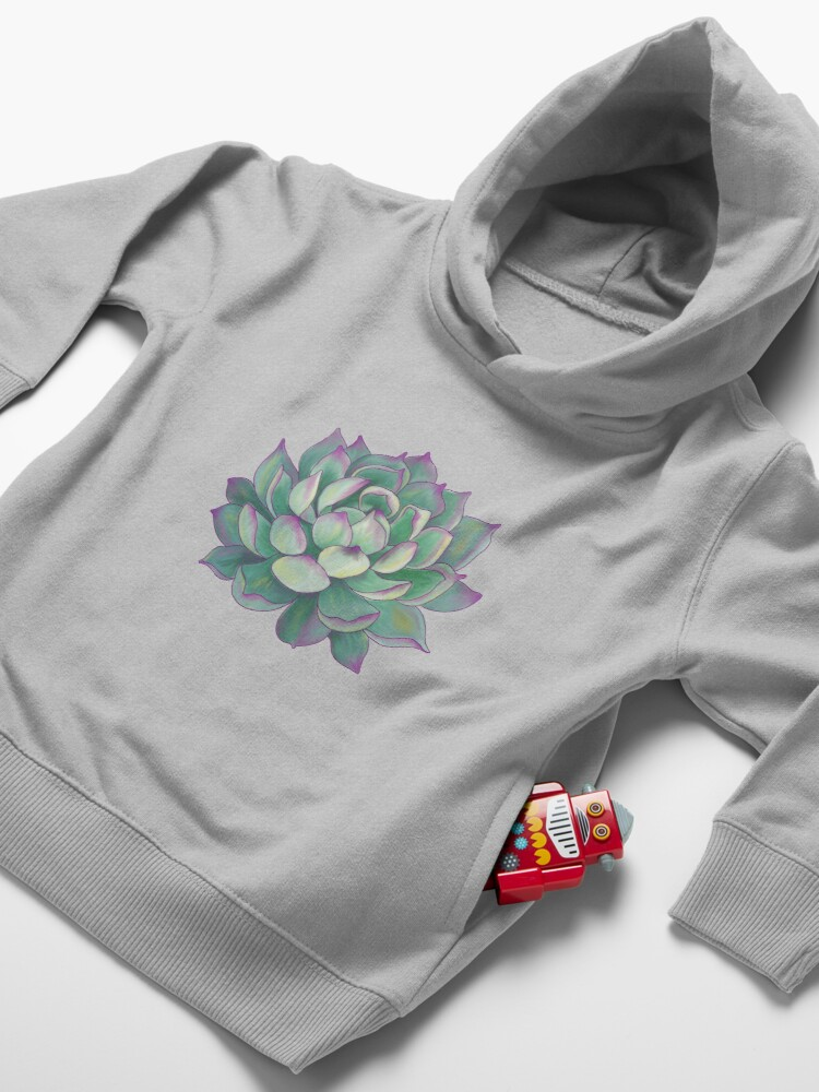 Alternate view of Succulent plant Toddler Pullover Hoodie