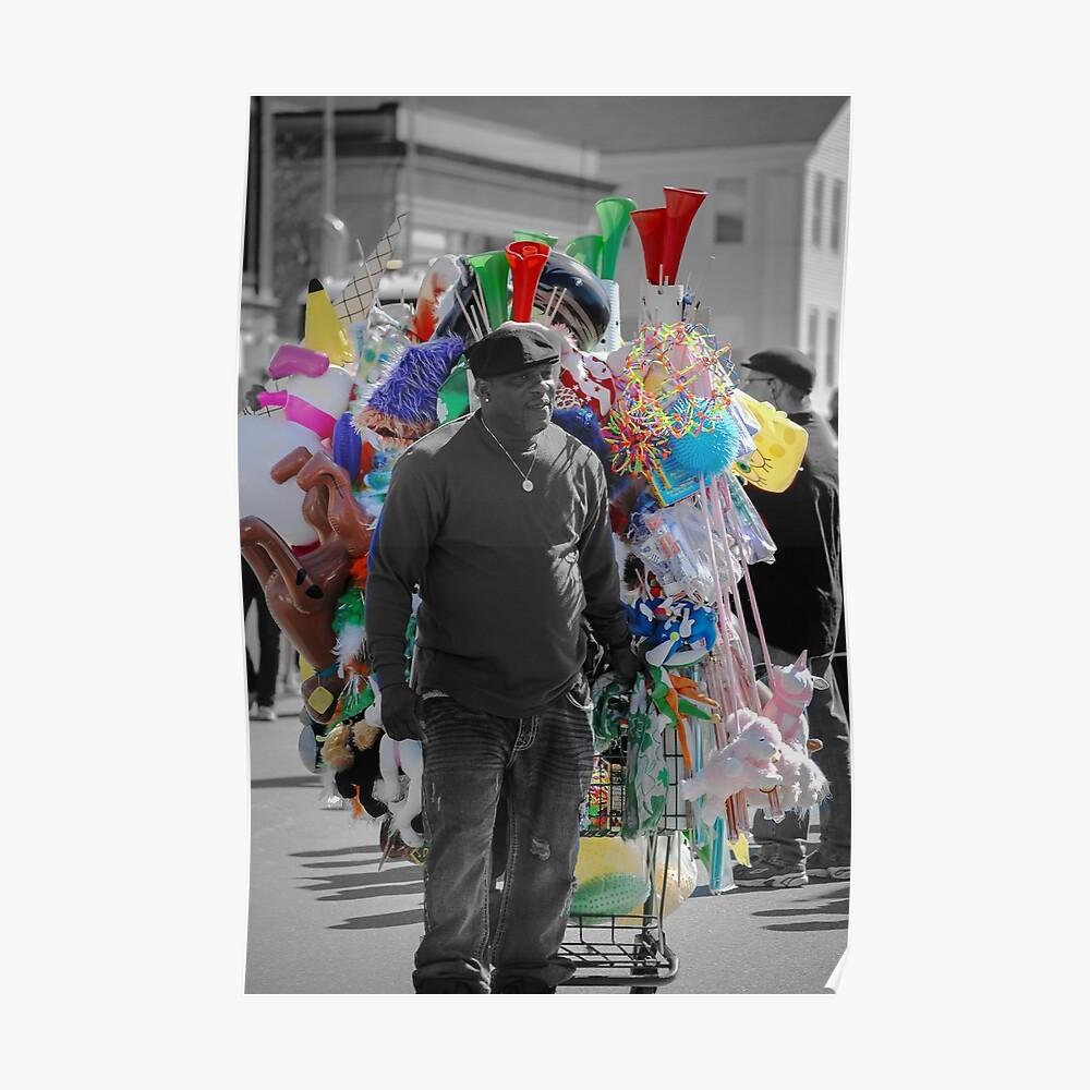 Straßenverkäufer Poster
