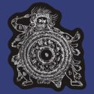 TamDin Buddhist Protective Charm white on black by Hedrin