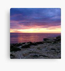 Sunrise over Delimara Malta Canvas Print