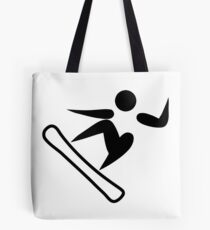 Olympic sports snowboarding pictogram Tote Bag