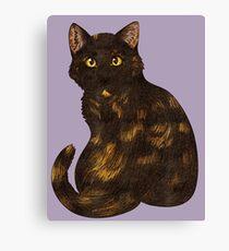 Tortie Cat Canvas Print