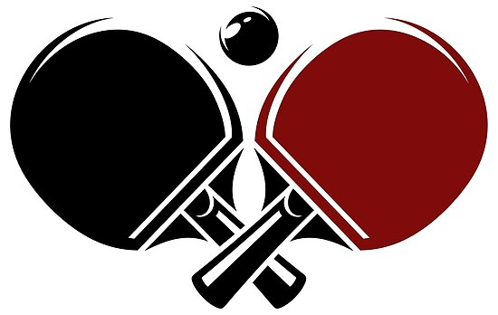 Quot Table Tennis Logos Design Quot Poster By Lovingangela Redbubble