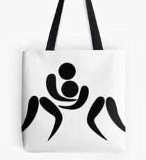 Olympic sports wrestling pictogram Tote Bag