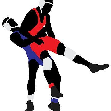 Wrestling players by lovingangela
