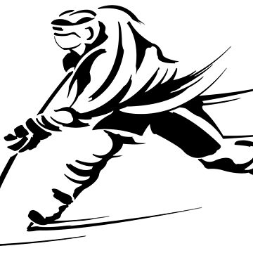 Ice hockey players silhouette by lovingangela