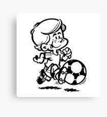 Soccer player cartoon Canvas Print