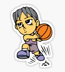 Basketball cartoon art Sticker