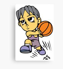 Basketball cartoon art Canvas Print