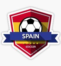 Creative soccer Spain Sticker