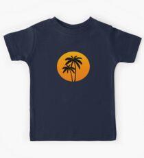 Palm Trees Sunset Kids Tee