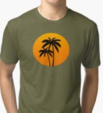 Palm Trees Sunset Tri-blend T-Shirt