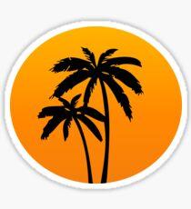 Palm Trees Sunset Sticker