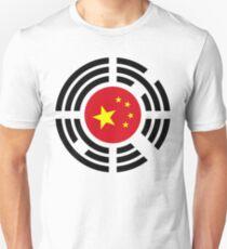 Korean Chinese Multinational Patriot Flag Series Slim Fit T-Shirt