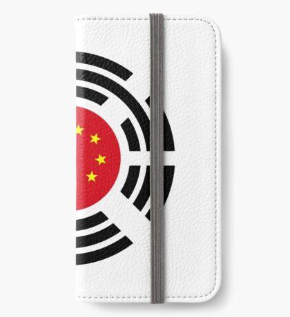 Korean Chinese Multinational Patriot Flag Series iPhone Wallet