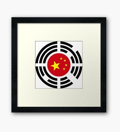 Korean Chinese Multinational Patriot Flag Series Framed Print