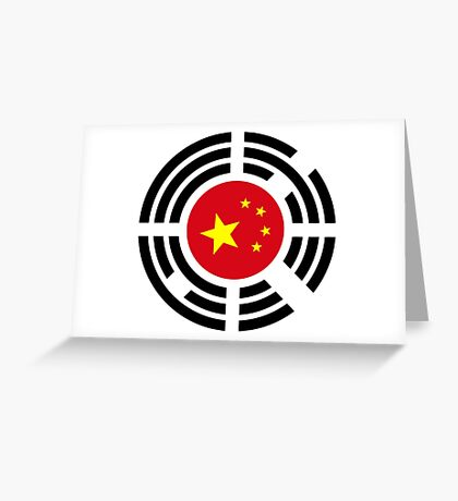Korean Chinese Multinational Patriot Flag Series Greeting Card