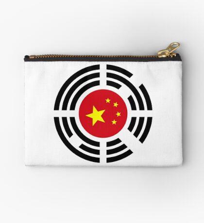 Korean Chinese Multinational Patriot Flag Series Zipper Pouch