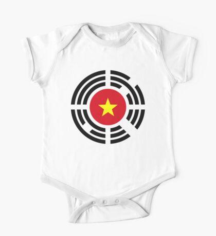 Korean Vietnamese Multinational Patriot Flag Series Kids Clothes