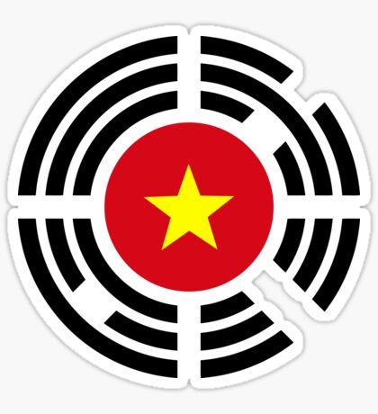 Korean Vietnamese Multinational Patriot Flag Series Sticker