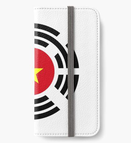 Korean Vietnamese Multinational Patriot Flag Series iPhone Wallet