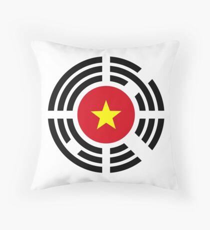 Korean Vietnamese Multinational Patriot Flag Series Throw Pillow