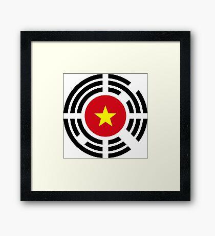 Korean Vietnamese Multinational Patriot Flag Series Framed Print