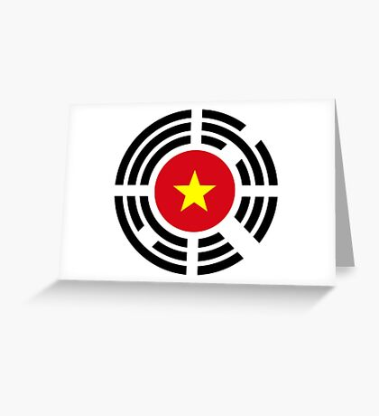 Korean Vietnamese Multinational Patriot Flag Series Greeting Card