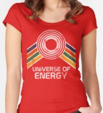 Universe of Energy Logo in Vintage Distressed Style Women's Fitted Scoop T-Shirt