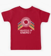 Universe of Energy Logo in Vintage Distressed Style Kids Tee