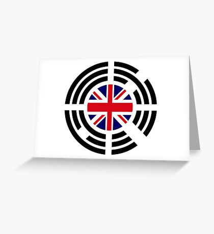 Korean Brit Multinational Patriot Flag Series Greeting Card